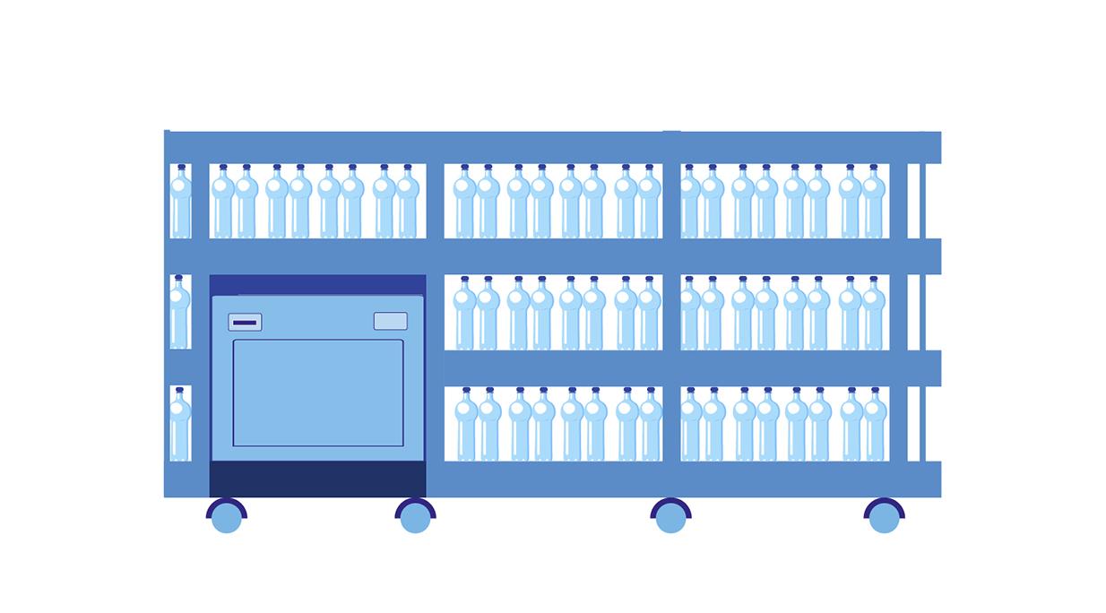 Distributore automatico di casse d'acqua