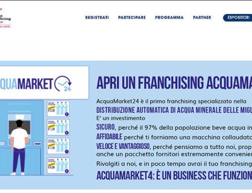 Acquamarket24 al 35° salone del franchising di Milano 2020
