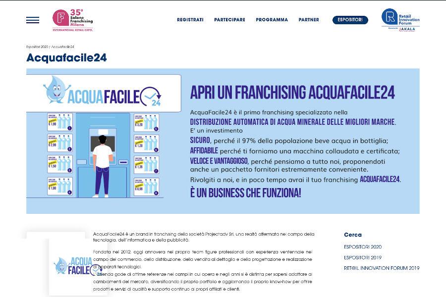 Acquafacile24 Salone di Milano 2020
